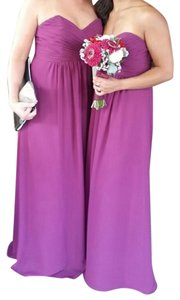Alfred Angelo Bridesmaid Sweetheart Neckline Chiffon Pettite Strapless Dress