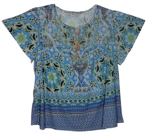 Live A Little And Let Plus Size 2x Batwing Top Multi