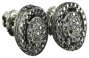 Other Vintage Style 3d 360 Ice Custom Bling Onyx Black Simulated Diamond Earring Drums