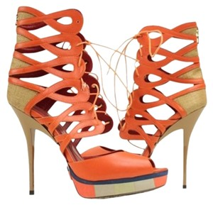 Cesare Paciotti Orange Sandals