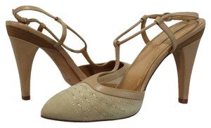 La Fenice Venezia Suede Leather Beige Pumps
