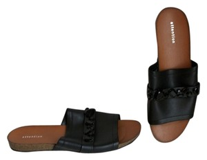 Attention Slides Slides Size 8 Black Sandals