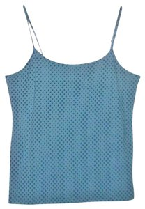 French Laundry Plus Size 2x Adjustable Top Faded denim dot