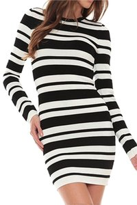 Torn by Ronny Kobo short dress Striped Bodycon Stretchy on Tradesy