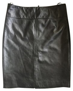 Cache Leather Pencil Skirt Black