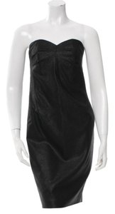 Robert Rodriguez Metallic Strapless Dress
