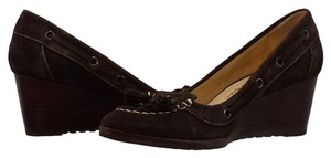 Cole Haan Suede Brown Wedges