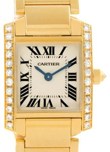 Cartier Cartier Tank Francaise Small Yellow Gold Diamond Watch WE1001R8