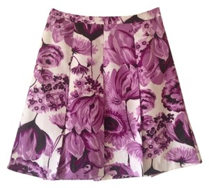 Ann Taylor Loft Skirt Purple and White