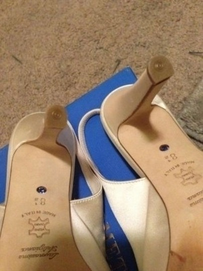 BHLDN Bone Something Bleu Bow-topped Slingback Formal Size US 8.5