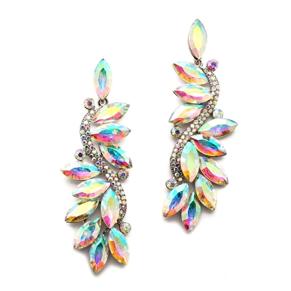Mariell Iridescent Spectacular Prom Pageant Or Homecoming Ab Cer 4530e Earrings