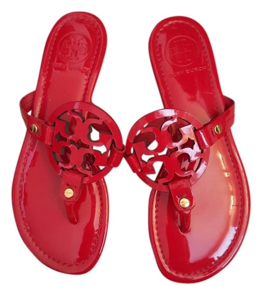 4578af5ee158 Tory Burch Red Miller Sandals Size US 6.5 - Tradesy