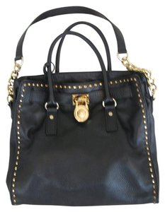 Michael Kors Gold Hardware Tote in Black