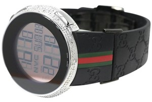Gucci Custom Mens I Gucci Digital White Full Diamond Watch 4.0 Ct Ya114207