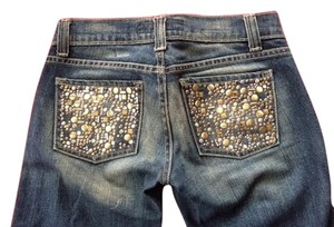 Kan Can Boot Cut Jeans-Distressed