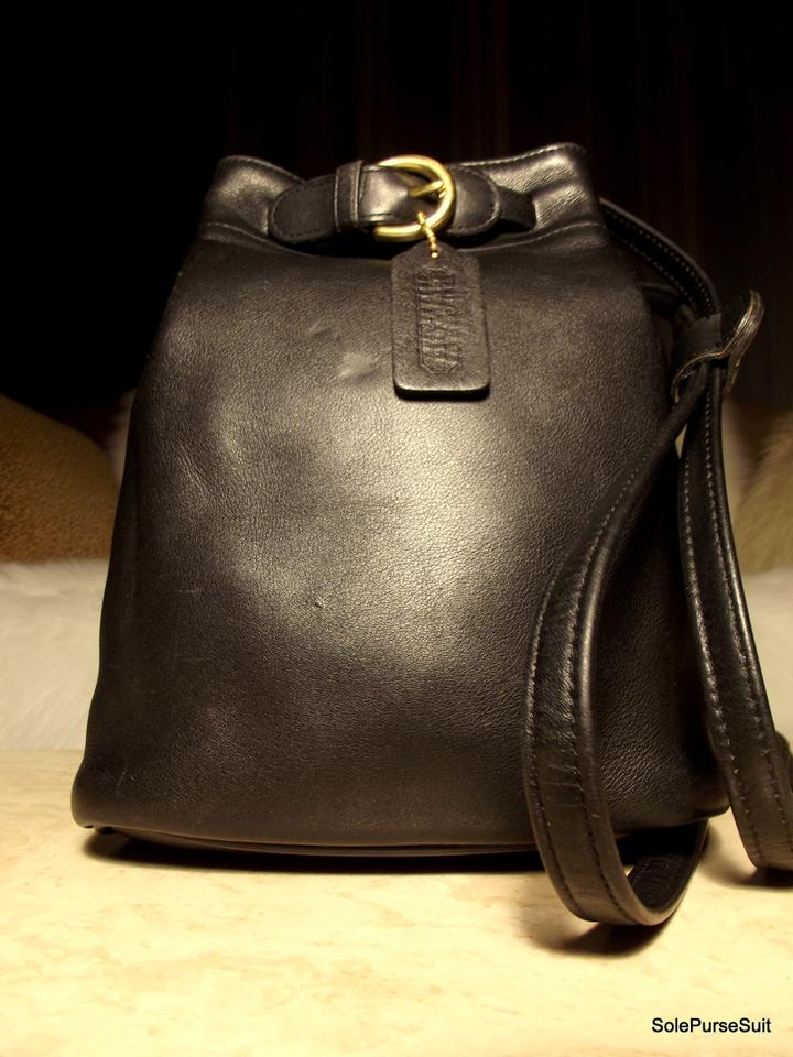 9a83610aab2 Coach Vintage Cornelia Sling Boho Black Glove-tanned Leather Solid Brass  Hardware Backpack 59% off retail