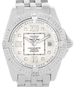 Breitling Breitling Windrider Cockpit Silver Diamond Dial Ladies Watch A71356