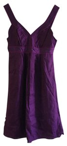 Banana Republic short dress Plum Purple Linen Summer on Tradesy