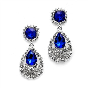 Mariell Six Sets Of Glamorous Royal Blue Statement Earrings With Bold Dangle 4536e-ry-s