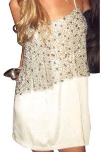 Silence + Noise short dress Cream with Sequin on Tradesy