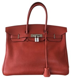 Hermès Tote in Epsom Red