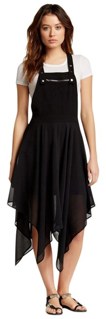 Item - Black Flowy Knee Length Short Casual Dress Size 8 (M)
