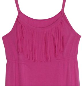 Since Beach Culture Since Beach Culture Women's Size XL Pink Fringed Dress or Cover Up