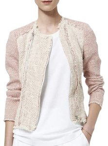 Rebecca Taylor Tweed Tailored Red and Cream Jacket