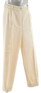 Chanel Boutique Twill Trouser Pants Winter White
