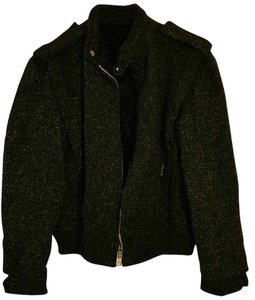 Fan Club Bomber Wool Vintage Made In Usa Military Jacket