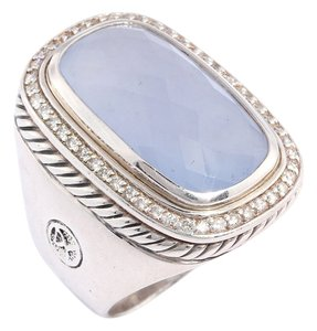 David Yurman ELONGATED CHALCEDONY ALBION RING