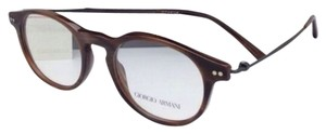 Giorgio Armani New GIORGIO ARMANI Eyeglasses AR 7010 5023 47-18 Striped Brown Titanium Frame