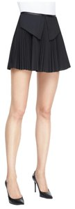 Ohne Titel Pleated Pleated Pleat Mini Skirt Black