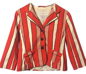 Luella Bartley for Target Orange Stripe Blazer