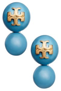 Tory Burch Tory Burch Crystal Pearl Double Studs in Falls Blue