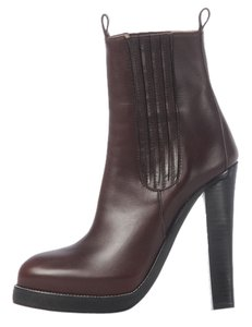 Balenciaga Bg.j1209.13 Brown Leather Platform Ankle Boots