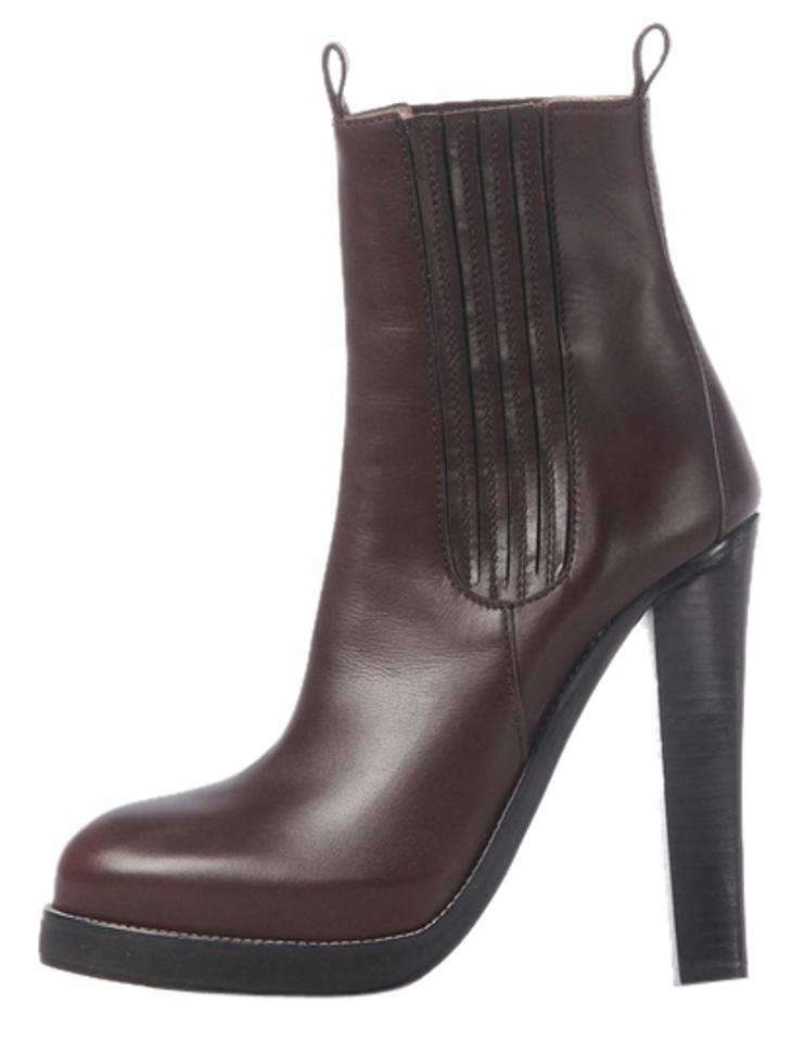 c05a9fa7b33 Balenciaga Brown Leather Platform Ankle Boots Booties Size EU 39.5 ...