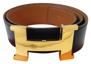 Herms Hermes Navy Constance H Belt