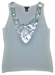 Elliott Lauren Evening Party Sleeveless Top Pale Blue