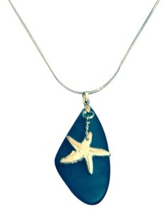A-List Sea Star on Blue Sea Glass