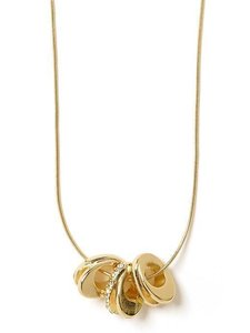 Banana Republic Banana Republic Gold Crystal Infinity Delicate Necklace