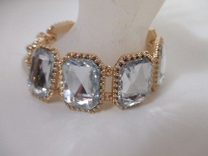 J.Crew J.crew Crystal Pillow Bracelet Item A1844 Clear
