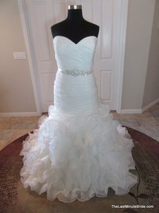 2f8175f09d0 Allure Bridals Ivory Organza Ruffled Corset Back Gown Style Number W353 Modern  Wedding Dress Size 28