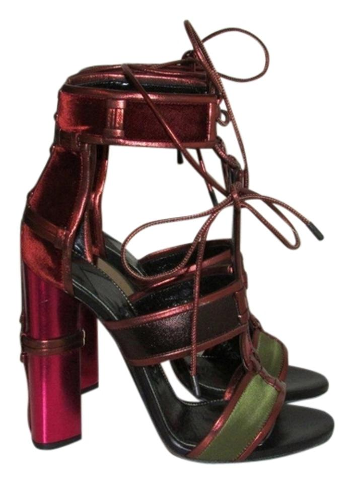 d616d6e357a8 Tom Ford Patchwork Cage Metallic Leather Sandals Size US 6.5 - Tradesy