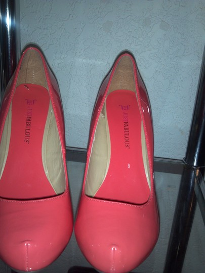 JustFab Coral Pumps