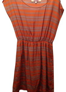Emmelee short dress Orange and grey on Tradesy