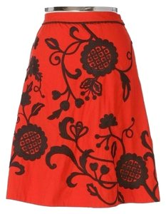 Anthropologie Skirt Red/Black