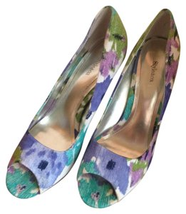 Style & Co Floral Open Toe Multicolored Pumps