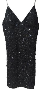 Adrianna Papell V-neck Sequin Evening Sexy Dress