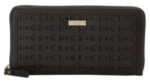 Kate Spade Kate Spade Cedar Street Perforated Black Leather Lacy Continental Purse Wallet